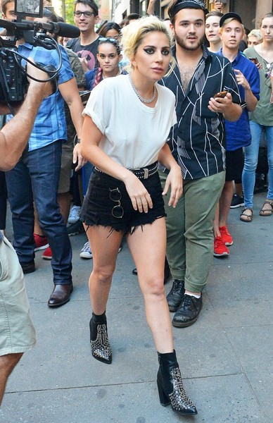 gaga denim shorts