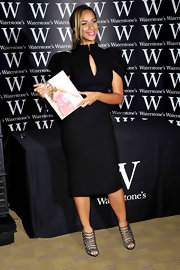 Leona Lewis wore silver strappy sandals to the signing of her book 'Dreams.'