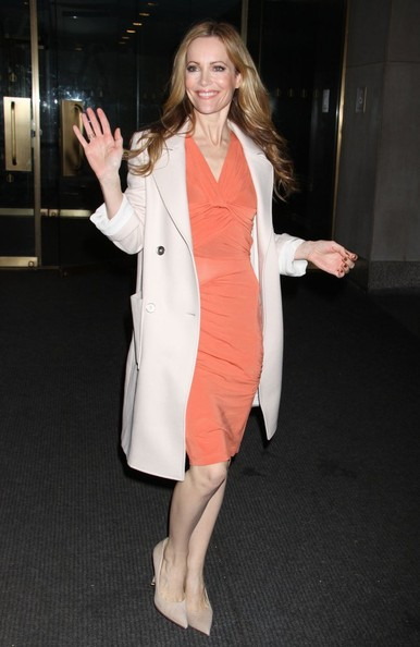 Leslie Mann Wool Coat