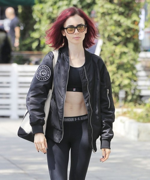 Lily Collins Wayfarer Sunglasses