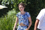 Lily Collins Crop Top