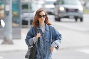 Lily Collins Denim Jacket