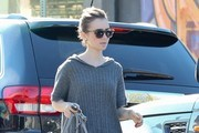 Lily Collins Knit Top