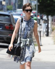 Lily Collins took a stroll on a sunny day wearing these oversized cateye sunnies.