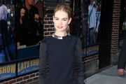 Lily James Little Black Dress