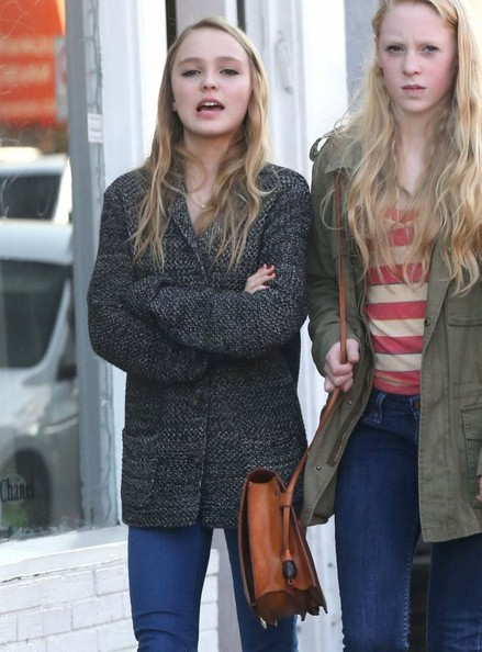 More Pics of Lily-Rose Depp Cardigan (1 of 9) - Lily-Rose Depp Lookbook - StyleBistro