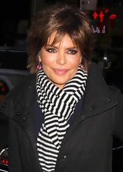 Lisa Rinna wore her hair in a subtly tousled style while arriving for an appearance on the 'Today' show.
