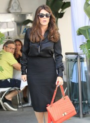 Lisa Vanderpump stepped out in LA wearing chic cateye sunnies.