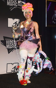 Nicki Minaj's shiny, architectural dress at the 28th Annual MTV Video Music Awards defied definition.
