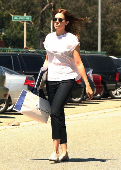 Mandy Moore Shops in Beverly Hills