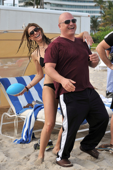 Michael Chiklis And Maria Menounos Play Beach Football In Miami