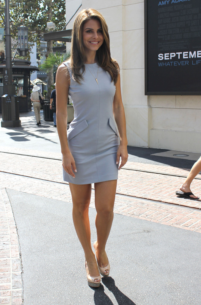 TV host Maria Menous posing for pictures at The Grove in between interviews for the show EXTRA in Los Angeles, California on September 25, 2012.