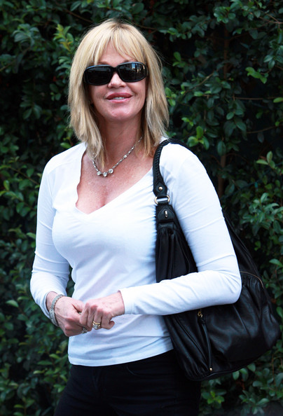 Melanie Griffith Rectangular Sunglasses