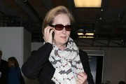 Meryl Streep Patterned Scarf