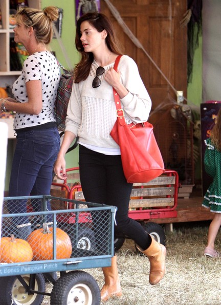 Michelle Monaghan Leather Hobo Bag