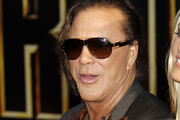 Mickey Rourke Designer Shield Sunglasses
