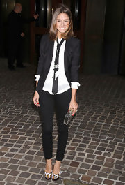 Olivia Palermo carried a clear plexiglas Pandora box clutch to a special screening of 'Midnight in Paris.'