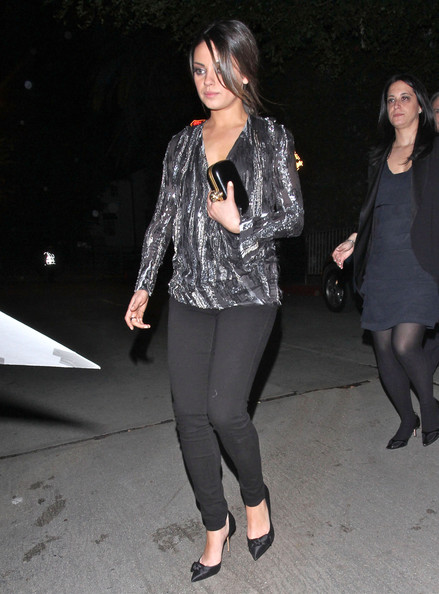 Mila Kunis Leather Clutch