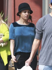 Mila Kunis went vintage with this black cloche for a day out in Beverly Hills.