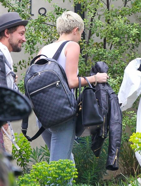 More Pics of Miley Cyrus Designer Backpack  (8 of 8) - Backpacks Lookbook - StyleBistro []