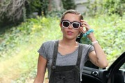 Miley Cyrus Print Sunglasses