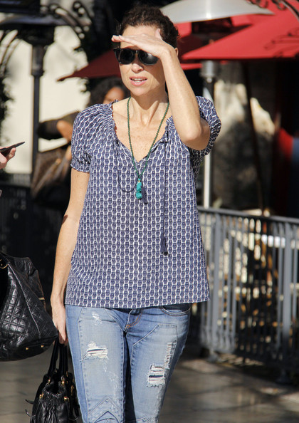 Minnie Driver Print Blouse