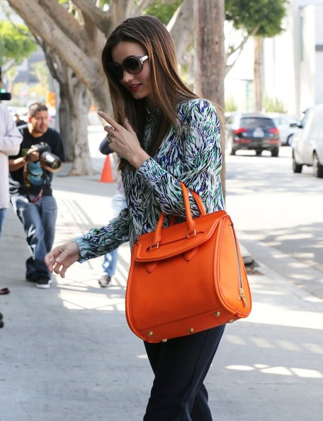 More Pics of Miranda Kerr Leather Tote (1 of 12) - Leather Tote Lookbook - StyleBistro
