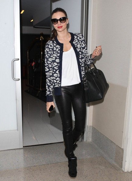 Miranda Kerr Departing Flies Out of LA