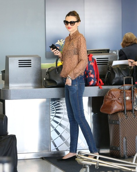 Miranda Kerr and Family Fly Out of LA