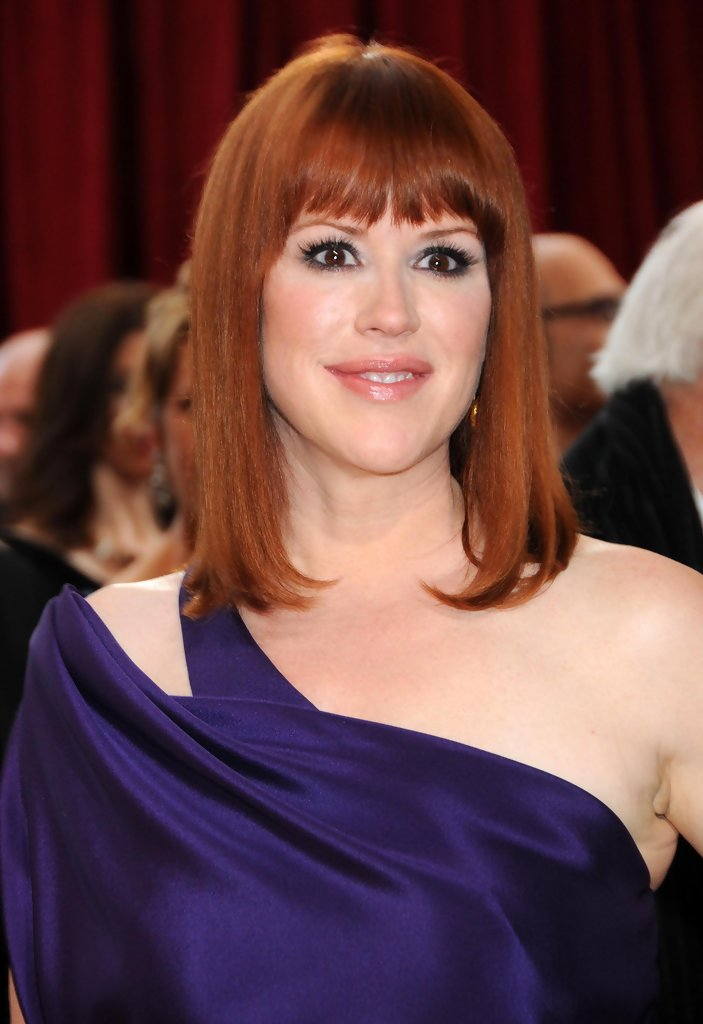 Molly Ringwald Medium Straight Cut With Bangs Medium