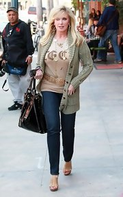 Morgan Fairchild looked as young as ever in her blue skinnies while out and about in Beverly Hills.