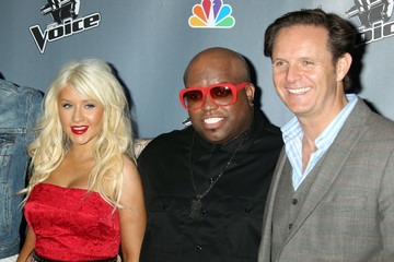 "Christina Aguilera Cee-Lo Green NBC's ""The Voice"" Press Conference"