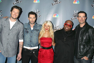 "Christina Aguilera Blake Shelton NBC's ""The Voice"" Press Conference"