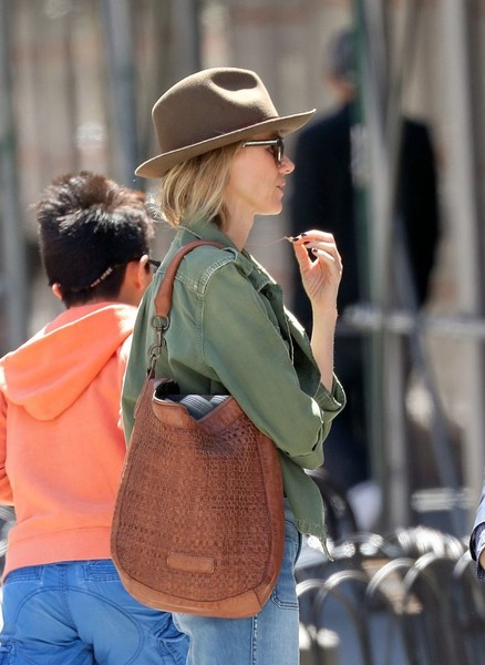 More Pics of Naomi Watts Leather Hobo Bag (1 of 14) - Naomi Watts Lookbook - StyleBistro []
