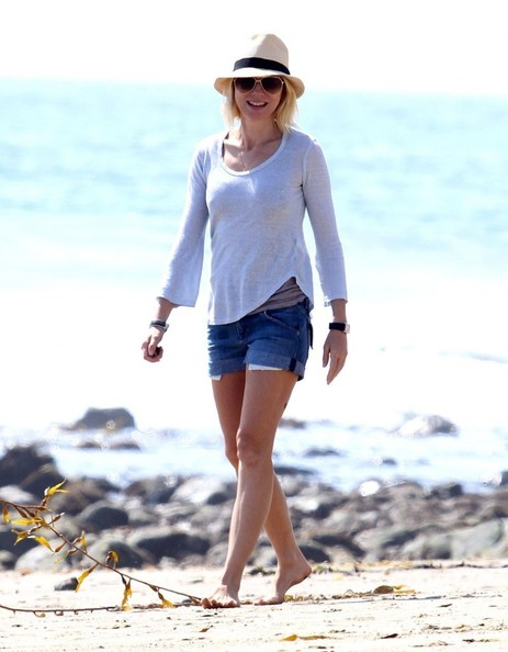 Naomi Watts Denim Shorts