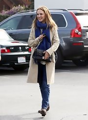 Natalie Portman wore classic skinny jeans while spending a day with friends.