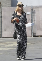 Malin Akerman's black-and-white printed maxi gave the new mom a fun boho vibe.