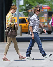 "Nicole stepped out in New York with her hubby wearing a pair of ""Houlihan"" skinny cargo pants."