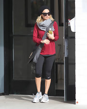 Nicole Richie bundled up in this gray scarf after hitting up the gym in Studio City.