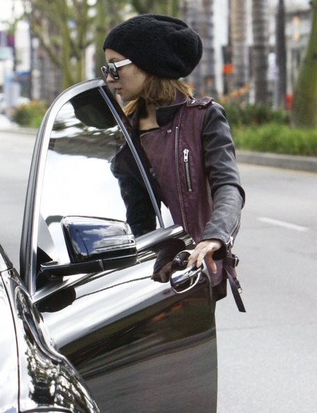 More Pics of Nicole Richie Leather Jacket (3 of 10) - Nicole Richie Lookbook - StyleBistro