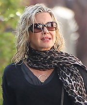 Olivia Newton-John was spotted wearing a pair of sunnies while out to get her hair done.