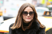 Olivia Palermo Wears a Black Fur Coat