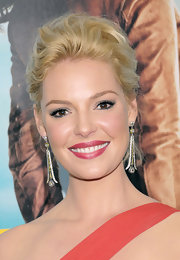 Katherine Heigl wore her short tresses pinned up and with a lot of volume at the NYC premiere of 'One for the Money.""
