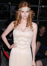 Lydia Hearst showed off her bohemian-glam side while hitting the red carpet for the Operation Smile Annual Gala.