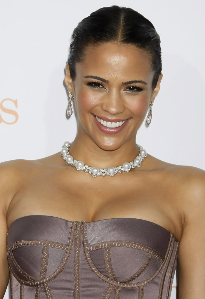 Paula Patton Dangling Gemstone Earrings Paula Patton