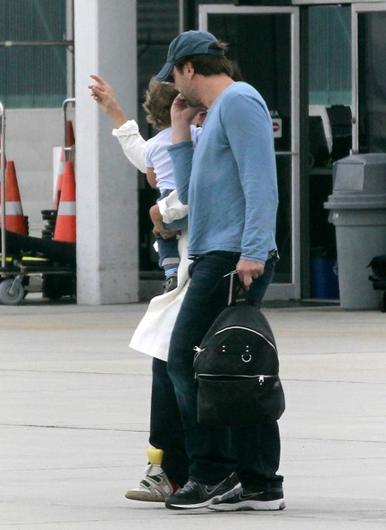 Penelope Cruz and Javier Bardem Get Out Of LA With Son Leo
