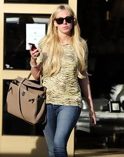 Petra Ecclestone sported a tiger-stripe tee while out shopping in Hollywood.