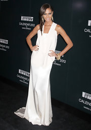 Joan Smalls was white hot in an elegant evening dress for the Pirelli Gala in NYC.