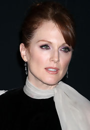 Julianne Moore wore shimmering shades of amethyst and lavender at the Pirelli Gala Dinner in NYC.