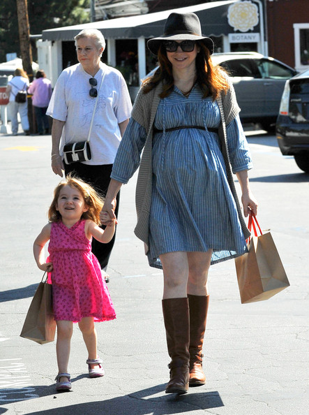 More Pics of Alyson Hannigan Maternity Dress (2 of 13) - Alyson Hannigan Lookbook - StyleBistro